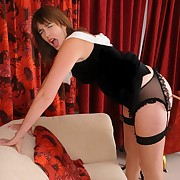 The pantyhosed milf whore was caned lamenetly