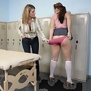 Sweet girl was caned by a teacher