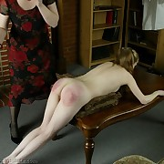 Two naughty schoolgirls do bad things to get caning and paddling