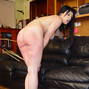 Brutal caning of babe girl