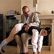 Hot babe was punished otk