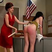 Slavegirl spanked and fucked