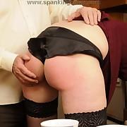 Husband spanked milf wife