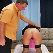 Keira has been idle all day and not acquires a painful stripped bottom spanking from her punishing boss