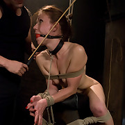 Fresh recent face caned and arse fucked in bondage