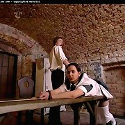 Bad maid spanked in dungeon