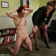 Female whipping, footdom, dong sex