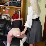 Spanked Caned and an supplementary Enema Punishment