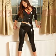Alyssa all latex black