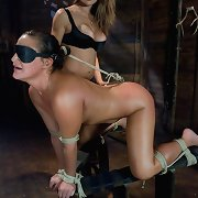Latinas in lesbo domination and massive strap-on cocks.
