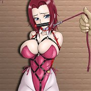 Buxom hentai ladies in strict bondage.