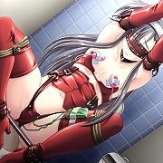 Hentai girls in fetish outfits bound and tormented.