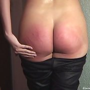 A blonde was spanked brutally