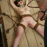 Slave with chained arms