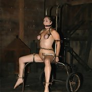 Hard boundage with cool slavegirl