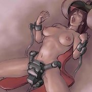 Hentai beauties in futuristic bondage.