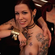 Kinky couple enjoy bondage and fucking.