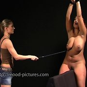 Big tit milf was caned