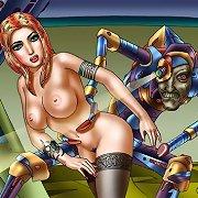 Fucking machines of the future for fantasy art women.