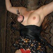 Slavegirl got her marangos raw tied and sucked cock