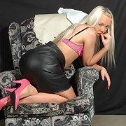 Fetish Wife Alysha is looking naughty in her pink high heels