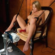 large tits, diminutive waist, tanned skin and stripper moves - Charisma Cappelli bonks the machines back in consummate bump and grind rhythm that is smokin\' hot
