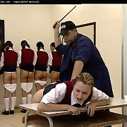 Teens gets bottom caning in school