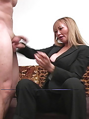 Fair-haired mistresse punished malesub