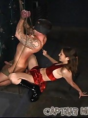 Harsh slave caning