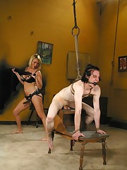 The mistress used a slaveboy for sex and facesitting