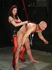 The cruel redhead mistress humiliated malesub