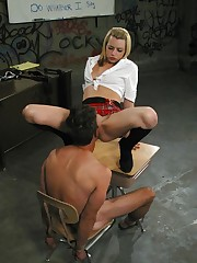 Mistress made tied boy fuck her