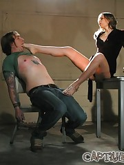 Mistress dominated malesub by the feet and fucked him