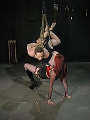 The redhead mistress humiliated slaveboy