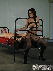 Malesub was tied and fucked
