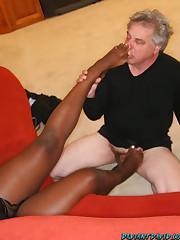 Big mistress in ass worship action