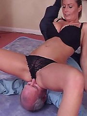Blonde babe sat on slave's face