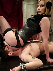 Sexy slut was fucking man's ass and sucks his dick.