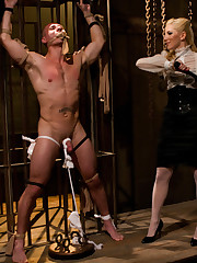 Blond bitch prefers to torture lovers before giving a fuck