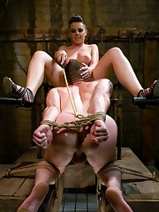 The male pussy sucker was flogged hard