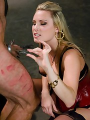 Arrogant little bastard gets his ass kicked by domineering bitch, Harmony Rose