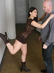Mistress beat a malesub by feet and trampled him