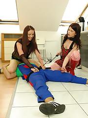 One teeny harlots needling and punishing a plumber