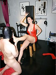 A well-hung sub is forced to serve a harsh dominatrix for her pleasure