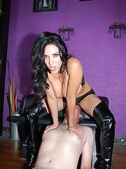Brunette mistress with cool sexy ass