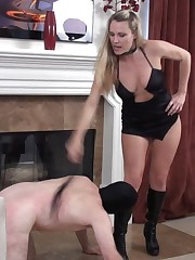 Whipping and boot worship