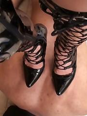 High heels severe trampling