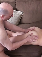 Slave does relaxing massage to his beautiful mistress.