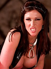 Miss Hybrid gets her revenge in the dungeon on the couple, that were booked to fuck in front of and deny her cock.