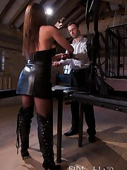 Mistress humiliated her submissive man